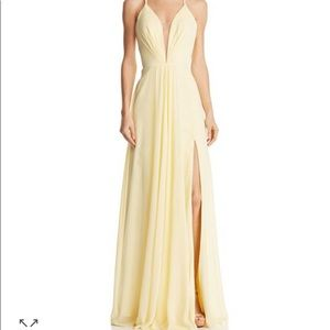 Faviana Couture Illusion Plunge Gown (worn once)